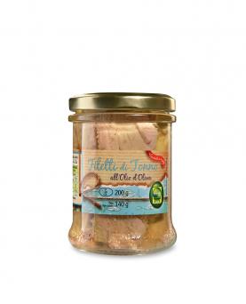 Filetti di tonno all'olio di oliva