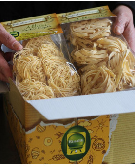 Fettuccine pasta all'uovo da agricoltura biologica